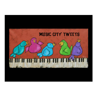 music city tweets postcard