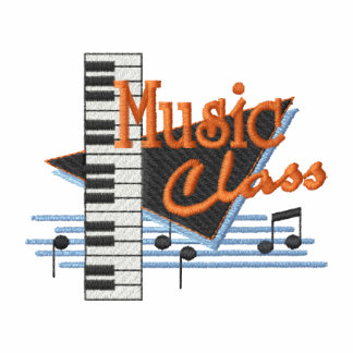 Music Class Embroidered Hoody