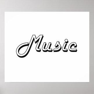 Music Classic Retro Design Poster