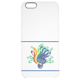 Music Clef Bouquet Clear iPhone 6 Plus Case
