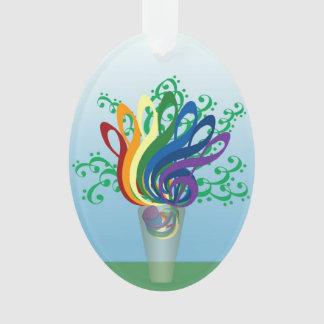 Music Clef Bouquet in Translucent Vase
