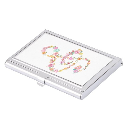 music clef girly design business card holder