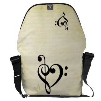 Music Clef Heart Commuter Bag