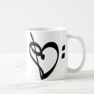 Music Clef Heart Mug