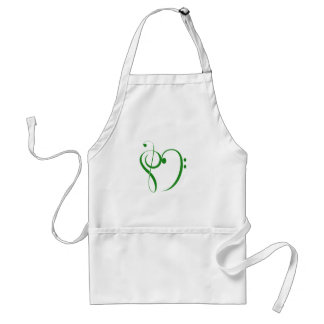 Music Clef Heart T-shirts and Gifts. Apron