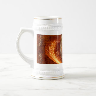 Music, clef made of diamond beer stein