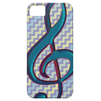 music clef note symbol on chevron barely there iPhone 5 case