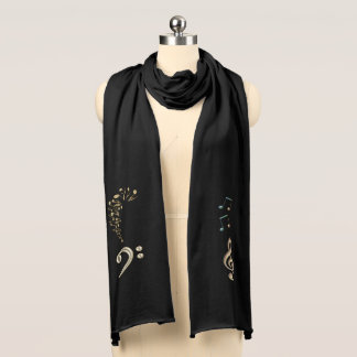 Music Clefs and Musical Notes Scarf