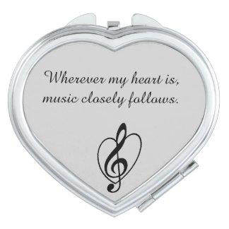 """Music closely follows"" Mirror Compact"