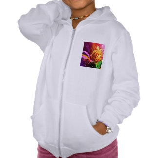 Music, colorful disco ball hooded pullover