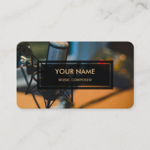 Music composer business cards zazzle uk music composer elegant photo overlay business card reheart Gallery