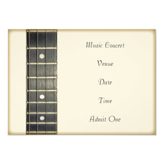 Music Concert Admission Ticket Invitation Card