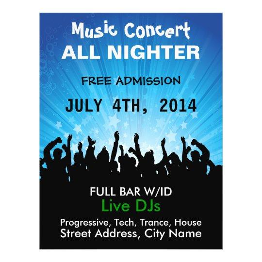 Music Concert All Nighter Music Flyer
