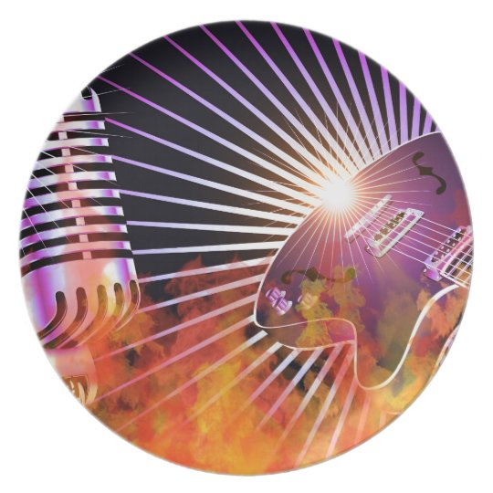 Music Concert Design with Guitar Plate