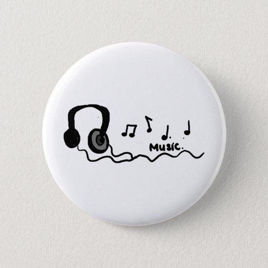 Music Cool Design! 6 Cm Round Badge