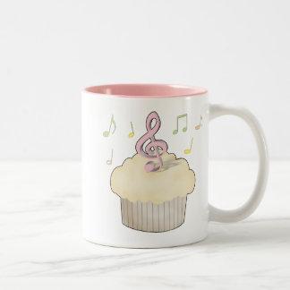 Music Cupcake Two-Tone Coffee Mug
