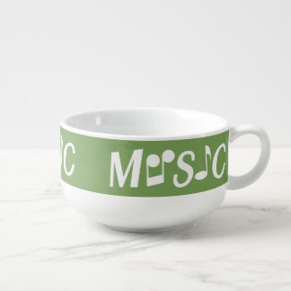 MUSIC custom color soup bowl