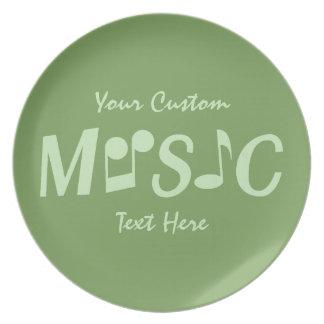 Music custom melamine plate