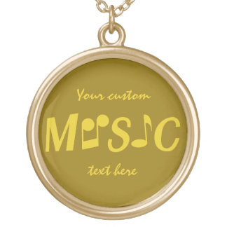 MUSIC custom necklace