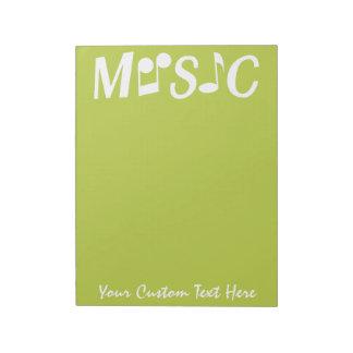 MUSIC custom notepad