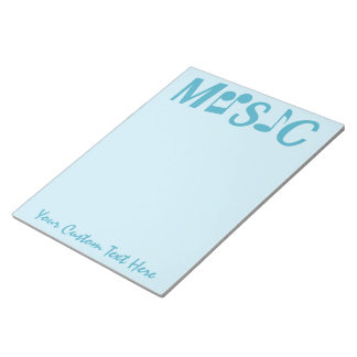MUSIC custom notepad