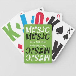 MUSIC custom playing cards