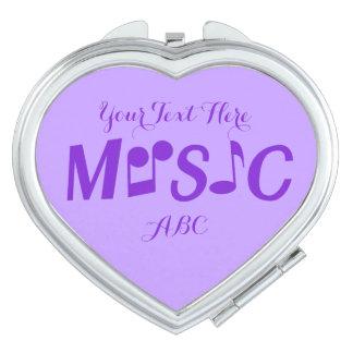 MUSIC custom pocket mirrors Compact Mirror