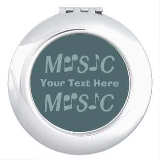 MUSIC custom pocket mirrors Travel Mirrors