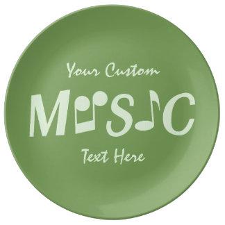 MUSIC custom porcelain plate