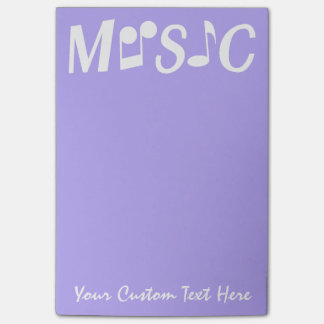 MUSIC custom Post-It notes