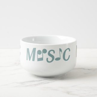 MUSIC custom soup mug