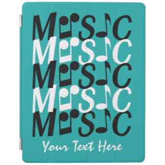 MUSIC custom text & color device covers iPad Cover