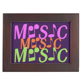 MUSIC custom text & color keepsake box