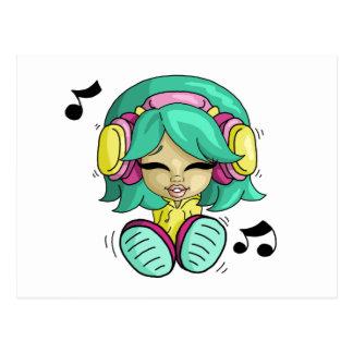 Music cutie postcard