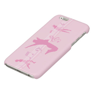 Music Dance and Drama pink Glossy iPhone 6 Case