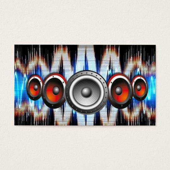 music design business card