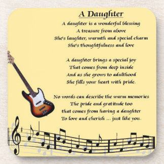Music Design - Daughter Poem Coaster