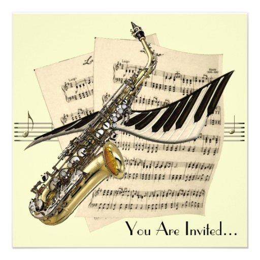 Music Design Invitations