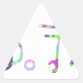 music design triangle sticker