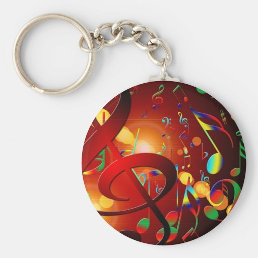 Music Destiny Song & Dance Notes Instruments Keychain
