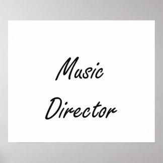 Music Director Artistic Job Design Poster