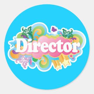 Music Director Retro Burst Sticker