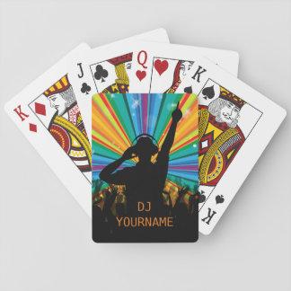 Music DJ custom text playing cards