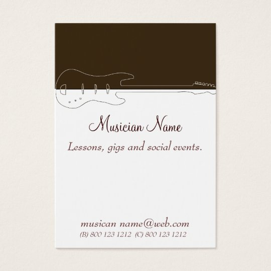 Music DJ Guitar Band Business Card