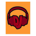 music DJ headphone Post Cards