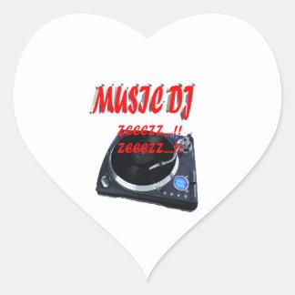 Music DJ Heart Sticker