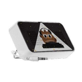 Music DJ Owl Design - Portable Speaker