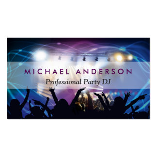 Music DJ Party Concert Planner - Modern Stylish Pack Of Standard Business Cards
