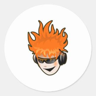Music DJ Classic Round Sticker