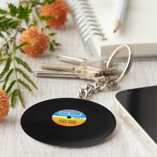 Music DJ stlye vinyl cover Key Ring